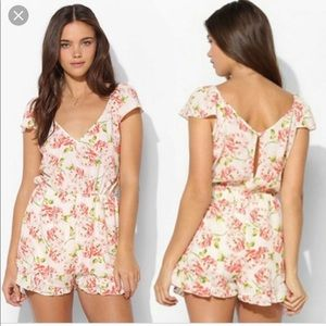 Pins and Needles Floral Romper | Urban Outfitters
